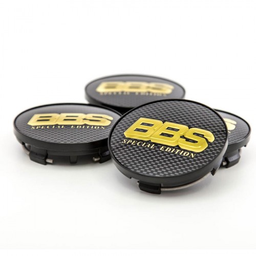BBS Center Cap Gold/Carbon Special Edition With Clip Ring