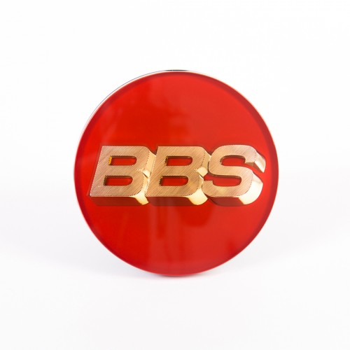BBS Center Cap Gold/Red WITH Clip Ring